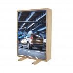 Casetă luminoasă din lemn 200 mm pentru print textil, dubla fata