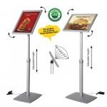 Display menu flexibil iluminat